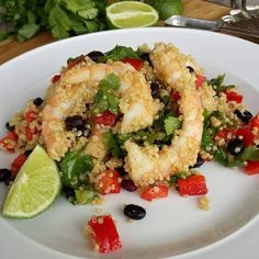 Shrimp Quinoa Salad Recipe http://cleanfoodcrush.com/shrimp-quinoa-salad/