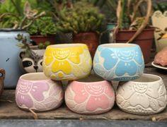 Pottery Painting, Ceramic Painting, Ceramic Art, Korean Pottery, Terracotta Pots, Planter Pots, Decoration, Clay, Murals