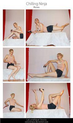 Stock - Lying Down by LaLunatique on DeviantArt - STOCK Chilling Ninja by LaLunatique - Action Pose Reference, Human Poses Reference, Pose Reference Photo, Figure Drawing Reference, Body Reference, Action Poses, Art Poses, Drawing Poses, Drawing Tips
