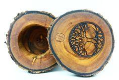 "rustic branch box ""tree of life""  rustikaler Astbehälter ""Baum des Lebens"""