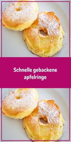 Schnelle gebackene apfelringe Ingredients for 2 servings 2 pcs. Apples (large fry) Ingredients for the dough 250 g flour 1 pinch of salt 200 ml [. Easy Cake Recipes, Apple Recipes, Sweet Recipes, Dessert Recipes, No Bake Desserts, Delicious Desserts, Dessert Blog, Winter Desserts, Baked Apples