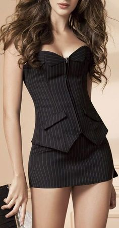 Corset Tuxedo Dress // #lbd wish I could wear this..... but don't got that awesome body.  So cute
