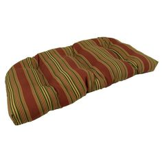 Lava Sweetwater Stripe Sunbrella Outdoor U Settee Cushion - LAVA11-0024