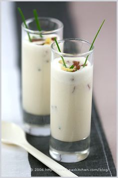 "Almond Gazpacho. Creamy rich ""soup"" BETTER than any milkshake!"