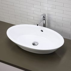 DecoLav Classically Redefined Oval Vessel Bathroom Sink - Two