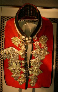 Sami silver collar from Sweden.
