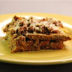 Eggplant Lasagna | Even if you're not on a low-carb diet, roasted eggplant slices make an excellent lasagna.