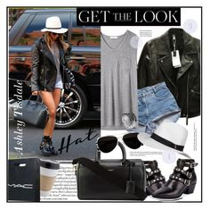 """""""Ashley Tisdale - Get her Hat Look"""" by stylemeup-649 ❤ liked on Polyvore featuring Zara, T By Alexander Wang, OUTRAGE, Yves Saint Laurent, Calvin Klein, Melissa Odabash, John Hardy, CO, GetTheLook and hats"""
