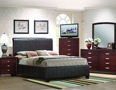 Winton Bedroom Group by Woodhaven features a luxurious winton upholstered bed and its strong geometrical appeal gives this group a very distinct and contemporary look.