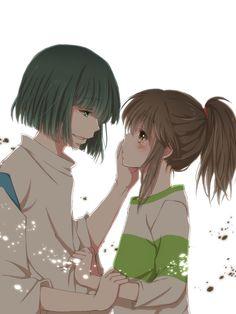 anime: spirited away chihiro and haku