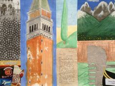 Artistic collage of some of my favourite things about Italy and my memories of it!