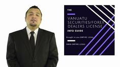 "EMPIRE LEGAL (http://www.empire.legal) discussing Vanuatu's Securities Dealers/ Forex/Binary Options Licensing program (Vanuatu Forex License). If you have any questions feel free to contact us at info@empire.legal In this two-part video series, we will guide you through the entire process of obtaining a Securities Dealers License ---(also known as a ""Forex license') in Vanuatu.   To begin with, Forex licenses are issued by the local regulatory commission, the VFS..."
