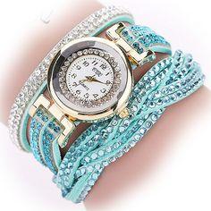 CCQ 2016 New Fashion Casual Quartz Women Rhinestone Watch Braided Leather Bracelet Watch Gift Relogio Feminino Gift 1739 mint green Grunge, Casual Watches, Braided Leather, Pu Leather, Fashion Watches, Women's Watches, Wrist Watches, Gold Watches, Ladies Watches