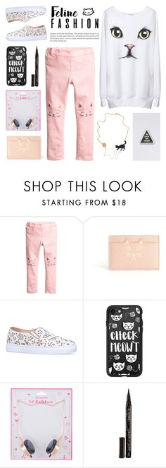 """""""Check Meowt: Feline Fashion"""" by deepwinter ❤ liked on Polyvore featuring Charlotte Olympia, Casetify, Accessorize, Smith & Cult, Word for Word and felinefashion"""