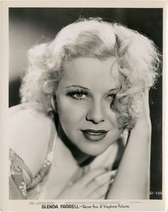 Glenda Farrell (June 1904 – May an American actress of film, television, and theater. Old Hollywood Stars, Old Hollywood Glamour, Hollywood Actor, Golden Age Of Hollywood, Vintage Hollywood, Hollywood Actresses, Classic Hollywood, Classic Movie Stars, Classic Movies
