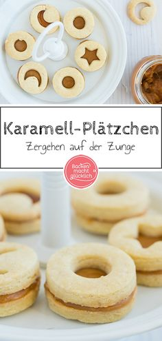 Plätzchen mit Karamellcreme These filled cookies with tonka bean and caramel cream taste irresistibly good! About half of the caramel cream recipe is required for filling the caramel biscuits Biscuits Au Caramel, Caramel Cookies, Caramel Cream Recipe, Tonka Bohne, Filled Cookies, Cream Recipes, Christmas Baking, Christmas Recipes, Sweet Recipes