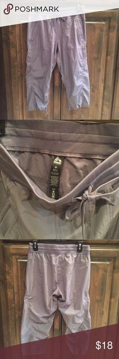 Like new! RBX Active Capri Tech Pants M $68! Like new! Worn once! RBX Active Capri Tech Pants - size Medium - color gray - poly/ spandex- elastic/pull string waist. Bought brand new for $68!! RBX Active Pants Capris