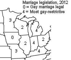 """Sunday, January 26, 2014  Study: """"Economic and Jobs Impact of Anti-Gay Marriage Legislation on Midwestern States, 2003-2012"""" By Jeramy Townsley, Department of Sociology, IUPUI [EDITOR'S NOTE: While we typically do not publish academic analysis of issues (as this is not an academic journal), we were approached to publish this piece as time does not allow for full peer review prior to publication (as the Indiana House will bring HJR-3 to their floor on Monday, January 27, 2014.)]"""