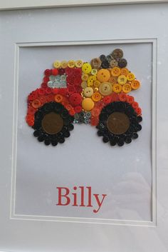 Hey, I found this really awesome Etsy listing at https://www.etsy.com/au/listing/294116199/boys-button-truck-frame-personalised-and