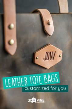 Our tote bags have the perfect length straps, fit everything you need, come in a variety of sizes and colors, and are customizable with your initials.