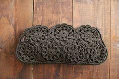 cuarenta corde marrón vintage embrague