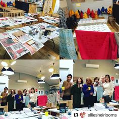 @elliesheirlooms screen printing workshop was a great success yesterday. Next workshop with @hellomarilustudio is on 25 March. See website for details.  #Repost @elliesheirlooms with @repostapp  Urbanmakerseast screen printing workshop today! What amazing fabric created this morning. Another one will be on its way.... #handmadechildrensclothing #upcycledclothing #antiquelinen #printing #workshops #urbanmakerseast