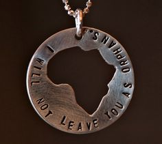"This beautiful sterling silver Africa cut out comes on an 18"" chain. Lisa Keefer of Keefer Style Creations is making these for us. All profits go to missions with 20% going to FEEDING THE ORPHANS. Help us feed the children of Africa and spread orphan awareness. (If you would prefer a different ve..."