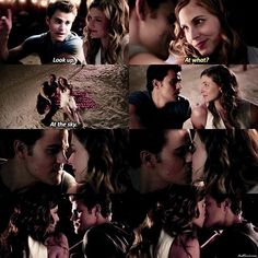 Actually I kinda hated Valerie for what she said to Damon and said that she was taking place of Caroline and even Damon but I SHIP THEM LOOK AT THEM THEY'RE SO CUTE. I'd love to go on a date like this I mean goals — #thevampirediaries#tvd#7x16 Fc:5255
