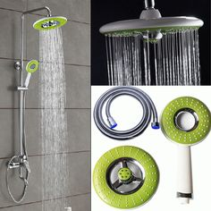 New ABS Round Spray Rain Rainfall Top/Hand-held Shower Head Set for Bathroom