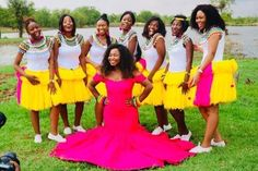 African Beauty, African Fashion, Tsonga Traditional Dresses, Bridesmaid Dresses, Wedding Dresses, Maids, Traditional Wedding, Black Is Beautiful, Bridal Collection