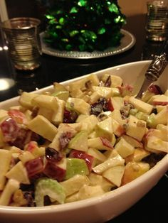 Christmas Apple-Walnut Salad.  Great with Roast Pork.