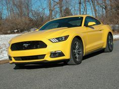 This Mustang looks like other 2015s except this one has the new turbocharged I-4 EcoBoost engine