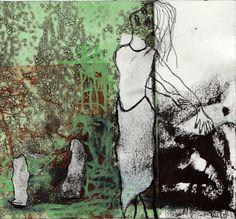Kvindeliv 7 15x16 Grafik, tegning, collage