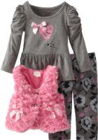 Nannette Little Girls' 3 Pieced Leopard Print Vest Shirt and Pant 3 Year Old Girl, Mother And Baby, Outfit Sets, Cute Dresses, 3 Piece, Graphic Sweatshirt, Sweatshirts, Clothing Sets, Sweaters