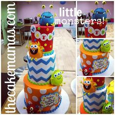 I like the Chevron pattern, and 3 tier, with little monsters