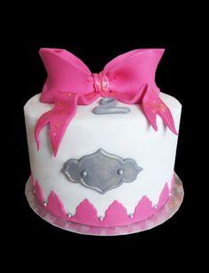 gateau noeud rose / girly cake pink