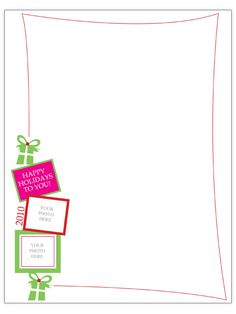 Free christmas letter templates crafty christmas ornaments free christmas letter templates spiritdancerdesigns Images