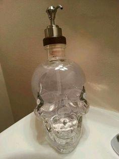 Skull hand soap dispenser