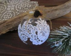 Handmade Christmas ornament  Rustic Ornament.