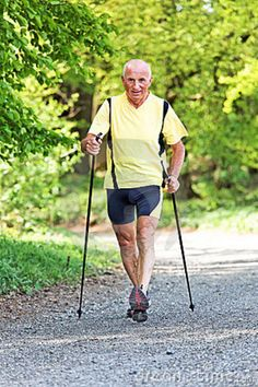 Man Nordic Walking*