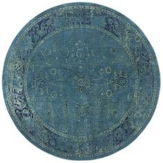 Safavieh Vintage Turquoise/Multi Round Indoor Machine-Made Distressed Area Rug (Common: 6 x 6; Actual: 6-ft W x 6-ft L x 6-ft Dia)