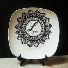 Hand painted ceramic plate,  the perfect gift for any occasion!