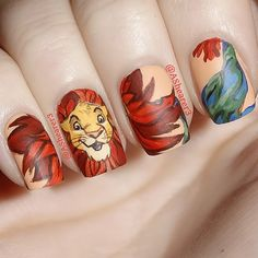 "Nail Art Inspired by Disney's ""The Lion King"""