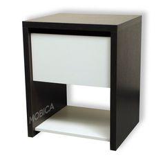mesa de luz moderna con cajon y estante 36x40 en melamina