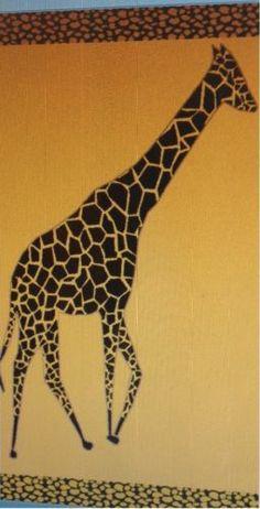 """Giraffe"" 40x70"" Egyptian Cotton Beach Towel"