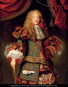 Portrait of man, believed to be The Grand Dauphin (1661-1711) by (after) Alexis-Simon Belle