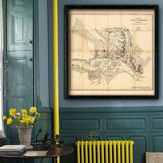 """Map of Richmond 1864 Vintage Richmond map in 3 sizes up to 32x32"""" (80x80 cm) Old map of Richmond, Virginia in original colors or in blue by RobertsMaps on Etsy https://www.etsy.com/listing/196972180/map-of-richmond-1864-vintage-richmond"""