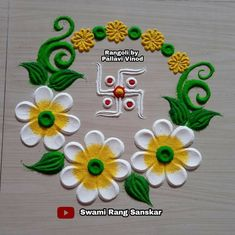 Rangoli Designs Latest, Rangoli Designs Flower, Rangoli Border Designs, Colorful Rangoli Designs, Flower Rangoli, Rangoli Borders, Rangoli Patterns, Free Hand Rangoli Design, Small Rangoli Design