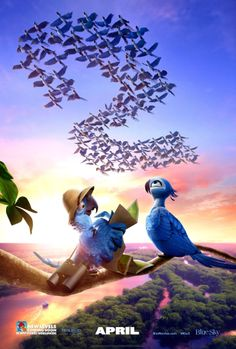 Rio 2 on DVD July 2014 starring Jesse Eisenberg, Anne Hathaway, Leslie Mann, Jamie Foxx. RIO 2 finds Jewel (Anne Hathaway), Blu (Jesse Eisenberg) and their three kids leaving their domesticated life in that magical city for a jou Film Rio, Rio 2 Movie, Movies 2014, Kid Movies, Great Movies, Disney Movies, Rodrigo Santoro, Disney Wallpaper, Wallpaper Backgrounds
