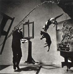 Dali/Halsman collaboration which took 28 takes!  Are they tossing the cats in the air?